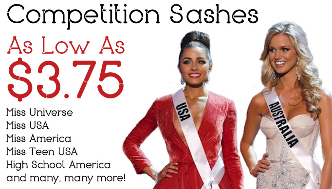 Pageant Sashes